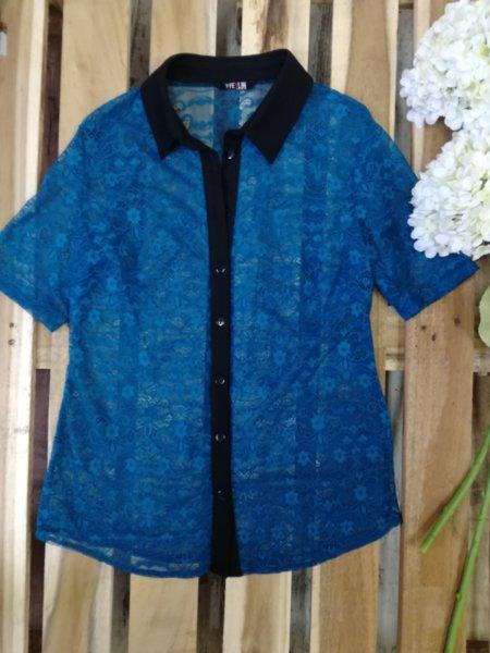 Дамска риза в синьо